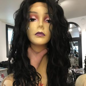 Black curly wig Long Human hair Blende 2019 lace